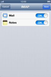 Apple iPhone 4 S - E-mail - Manual configuration IMAP without SMTP verification - Step 13
