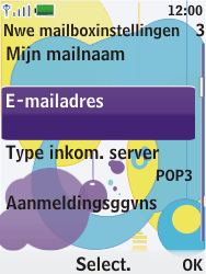 Nokia 7310 supernova - E-mail - Handmatig instellen - Stap 14