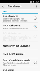 Huawei Ascend Y550 - SMS - Manuelle Konfiguration - Schritt 6