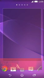 Sony Xperia Z2 - Getting started - Installing widgets and applications on your start screen - Step 9