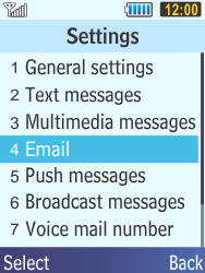 Samsung C3350 Xcover 2 - E-mail - Manual configuration - Step 5