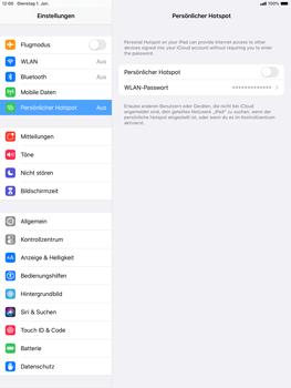 Apple ipad-10-2-7th-gen - WiFi - So aktivieren Sie einen WLAN-Hotspot - Schritt 4