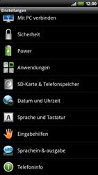 HTC Z710e Sensation - Fehlerbehebung - Handy zurücksetzen - Schritt 6
