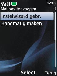 Nokia 6600i slide - E-mail - Handmatig instellen - Stap 8