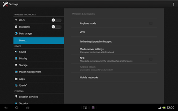 Sony Xperia Tablet Z LTE - Internet and data roaming - Manual configuration - Step 5