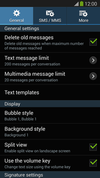 Samsung N9005 Galaxy Note III LTE - SMS - Manual configuration - Step 6