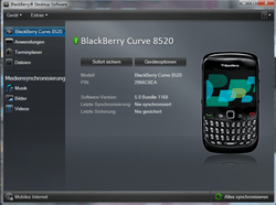 BlackBerry 8520 Curve - Software - Update - Schritt 3