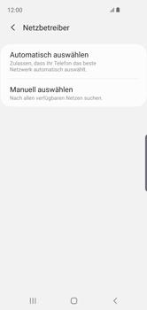 Samsung Galaxy S10e - Netzwerk - Manuelle Netzwerkwahl - Schritt 7