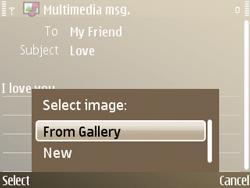 Nokia E72 - MMS - Sending pictures - Step 13