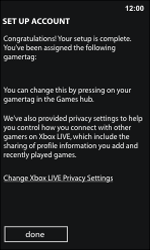Nokia Lumia 800 / Lumia 900 - Applications - Setting up the application store - Step 15