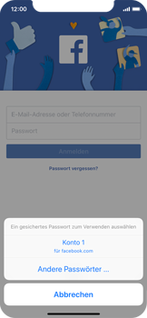 Apple iPhone X - iOS 11 - Automatisches Ausfüllen der Anmeldedaten - 6 / 8