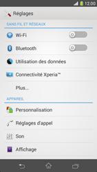 Sony Xperia Z1 Compact - Internet et roaming de données - Comment vérifier que la connexion des données est activée - Étape 4
