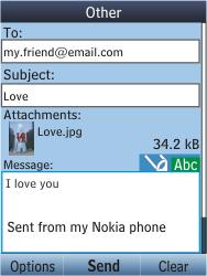 Nokia C2-05 - E-mail - Sending emails - Step 16