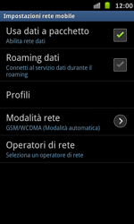 Samsung Galaxy S Advance - Internet e roaming dati - Disattivazione del roaming dati - Fase 7