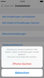 Apple iPhone 5s iOS 10 - Gerät - Zurücksetzen auf die Werkseinstellungen - Schritt 7