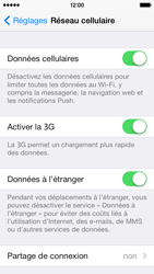 Apple iPhone 5s - Internet et roaming de données - désactivation du roaming de données - Étape 4