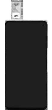 Samsung Galaxy S10 - Premiers pas - Insérer la carte SIM - Étape 4