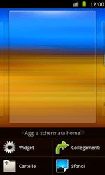 Samsung Galaxy S Advance - Operazioni iniziali - Installazione di widget e applicazioni nella schermata iniziale - Fase 3