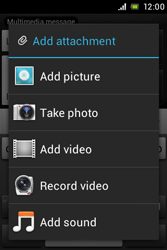 Sony C1505 Xperia E - MMS - Sending pictures - Step 13