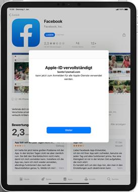 Apple iPad 9.7 (2017) - iPadOS 13 - Apps - Einrichten des App Stores - Schritt 22
