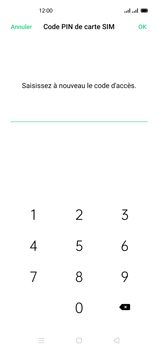 Oppo Reno 4 - Sécuriser votre mobile - Personnaliser le code PIN de votre carte SIM - Étape 13