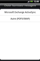 HTC A510e Wildfire S - E-mail - Configurer l