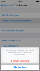 Apple iPhone 5s iOS 8 - Gerät - Zurücksetzen auf die Werkseinstellungen - Schritt 7