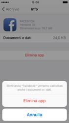 Apple iPhone 5c iOS 9 - Applicazioni - Come disinstallare un