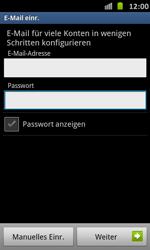 Samsung Galaxy S Advance - E-Mail - Manuelle Konfiguration - Schritt 6