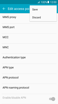 Samsung Galaxy A8 - MMS - Manual configuration - Step 13