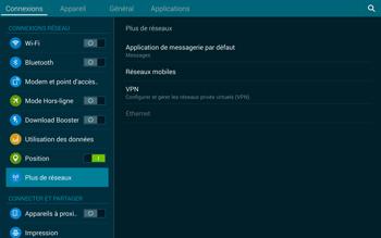 Samsung T805 Galaxy Tab S - Réseau - Sélection manuelle du réseau - Étape 5