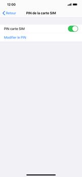Apple iPhone 11 - Sécuriser votre mobile - Personnaliser le code PIN de votre carte SIM - Étape 5