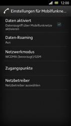 Sony Xperia U - Internet und Datenroaming - Deaktivieren von Datenroaming - Schritt 8