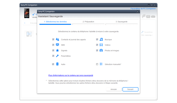 Sony Xperia Z - Logiciels - Comment effectuer une sauvegarde de votre appareil - Étape 5