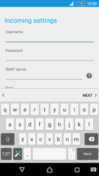 Sony Sony Xperia Z5 (E6653) - E-mail - Manual configuration - Step 12