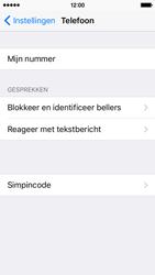 Apple iPhone 5c met iOS 10 (Model A1507) - Beveiliging en ouderlijk toezicht - Hoe wijzig ik mijn SIM PIN-code - Stap 4
