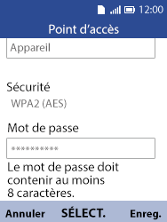 Alcatel 3088X - Internet et connexion - Partager votre connexion en Wi-Fi - Étape 10
