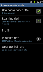 Samsung Galaxy S Advance - Internet e roaming dati - Disattivazione del roaming dati - Fase 6