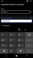 Microsoft Lumia 650 - Contact, Appels, SMS/MMS - Ajouter un contact - Étape 6