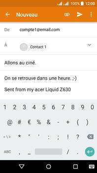 Acer Liquid Z630 - E-mail - envoyer un e-mail - Étape 8