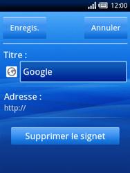Sony Xperia X10 Mini Pro - Internet - Navigation sur Internet - Étape 9