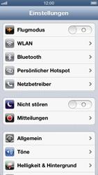 Apple iPhone 5 - Internet und Datenroaming - Deaktivieren von Datenroaming - Schritt 3