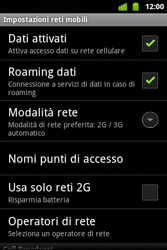 Alcatel OT-983 - Internet e roaming dati - Disattivazione del roaming dati - Fase 6
