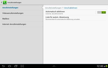 Samsung Galaxy Note 10-1 - Anrufe - Anrufe blockieren - 7 / 14