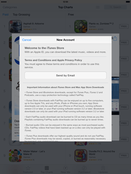 Apple iPad Air - Applications - Setting up the application store - Step 9