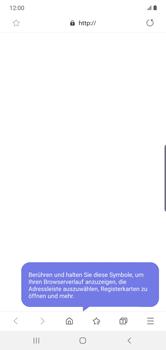 Samsung Galaxy Note 10 Plus 5G - Internet und Datenroaming - Verwenden des Internets - Schritt 16