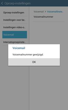 Samsung Galaxy Tab4 8.0 4G (SM-T335) - Voicemail - Handmatig instellen - Stap 10