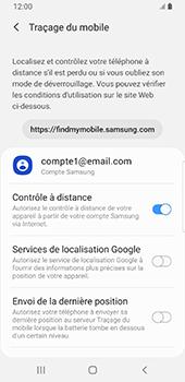 Samsung Galaxy S9 Android Pie - Appareil - Configurer Localiser mon appareil - Étape 7