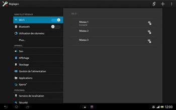 Sony Xperia Tablet Z LTE - WiFi - Configuration du WiFi - Étape 7