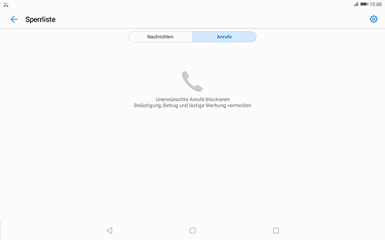 Huawei MediaPad T3 (10.0) LTE - Anrufe - Anrufe blockieren - 5 / 12